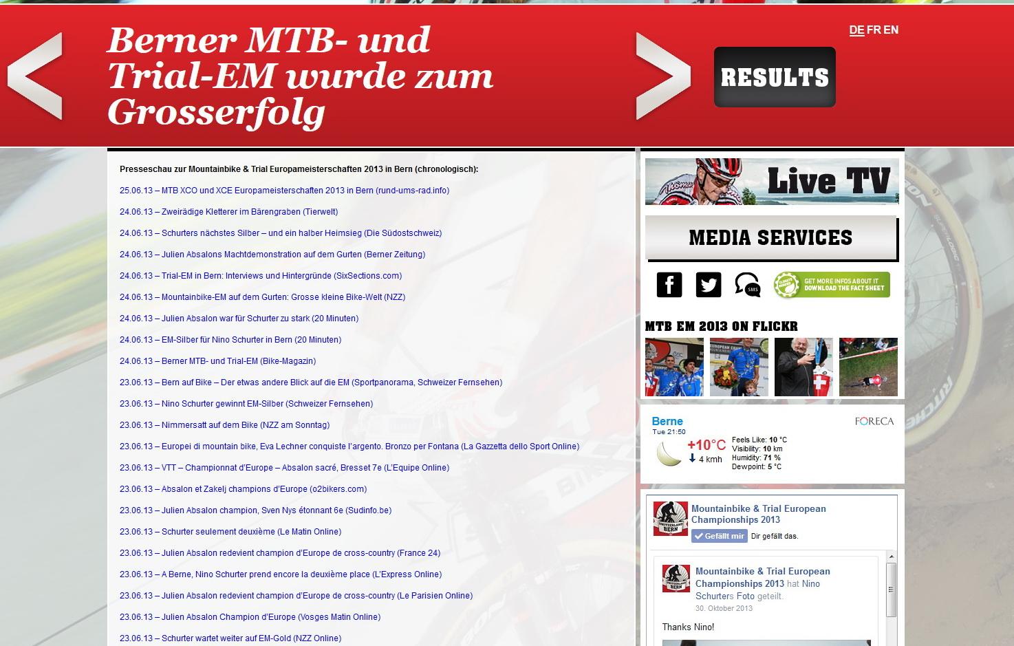 MTB EM 2013, Bern